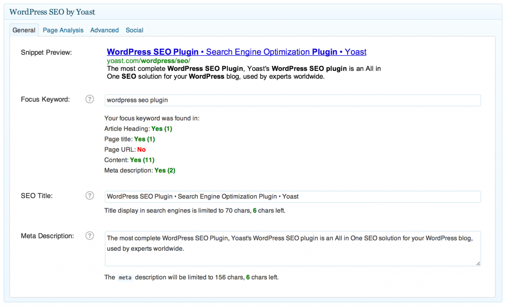 WordPress SEO Yoast Snippet Preview