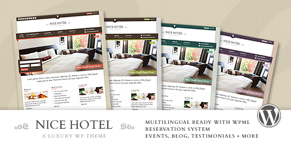 Nice Hotel - Travel WordPress Themes