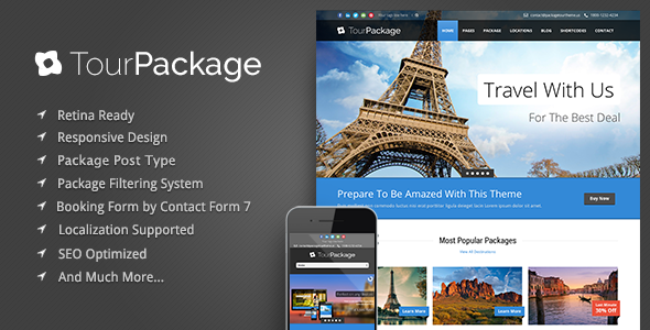 Tour Package - WordPress Travel, Tour Theme