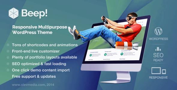 Beep - Responsive Multi-Purpose WordPress Theme