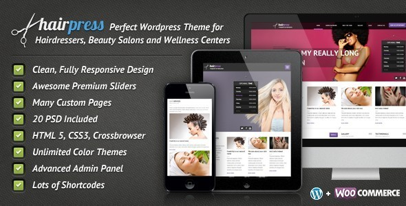 Hairpress - WordPress Theme for Hair Salons