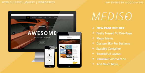 Mediso - Corporate, One-Page, Blogging WP Theme