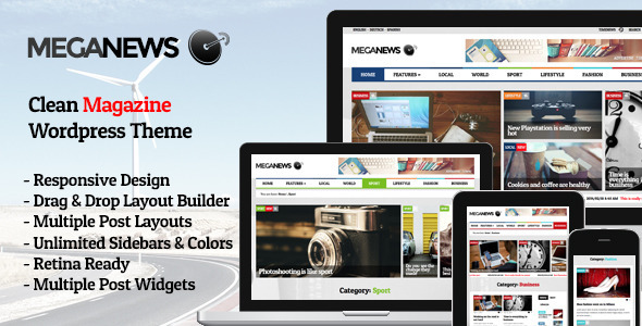 Meganews - Magazine Responsive WordPress Theme