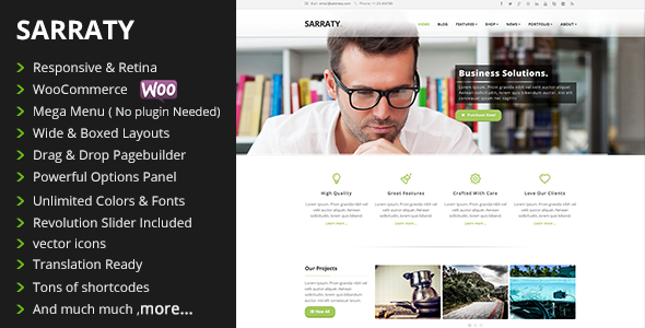 Sarraty - Retina Responsive Multi-Purpose Theme