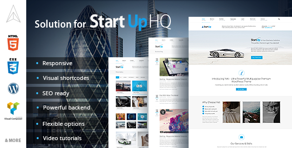 Solutions for StartUp HQ - WordPress Theme