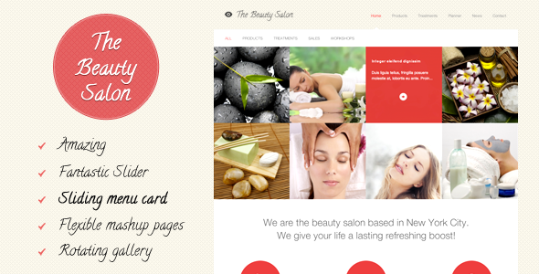 The Beauty Salon - Spa Salon WordPress Themes