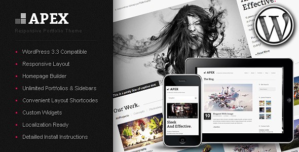 Apex Responsive Portfolio WordPress Themes