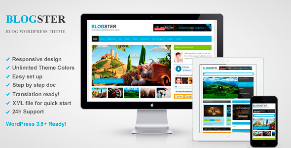 Blogster - Responsive Blog WordPress Theme