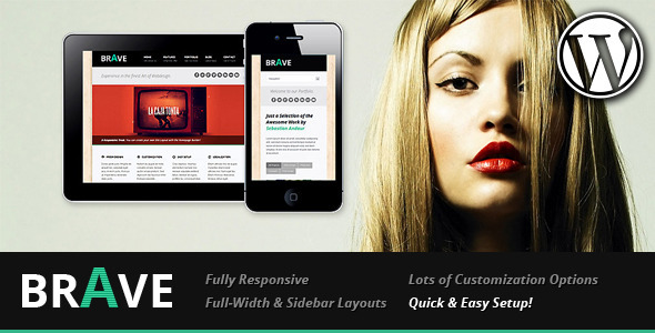 Brave Responsive Business WordPress Theme