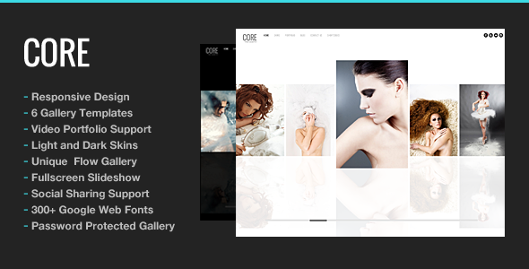 Core Minimalist Photography Portfolio Theme