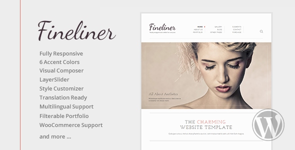 Fineliner - Responsive Portfolio WordPress Themes