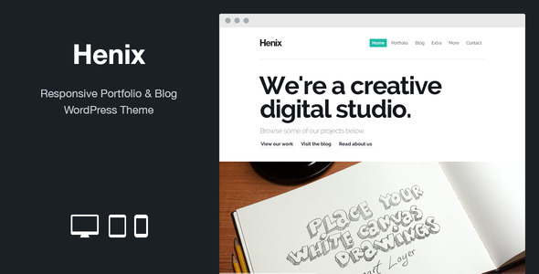 Henix - Responsive Portfolio & Blog WordPress Theme