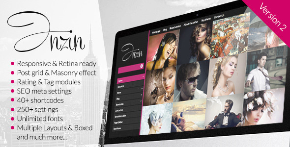 Inzin - Responsive Blog WordPress Theme