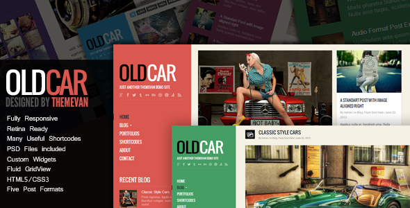 OldCar - Responsive Blog & Grid WordPress Theme