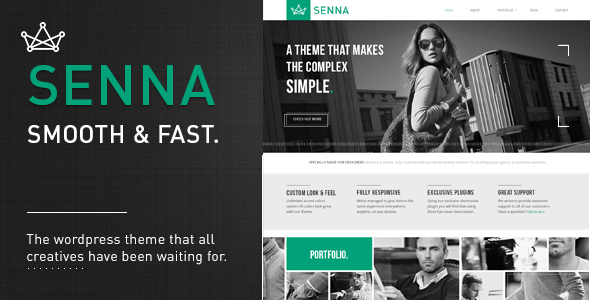 Senna - Responsive Portfolio, Blog WordPress Theme