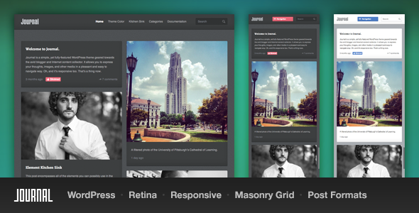 Journal Responsive Tumblog WordPress Themes