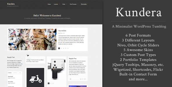 Kundera - Creative Tumblog WordPress Themes