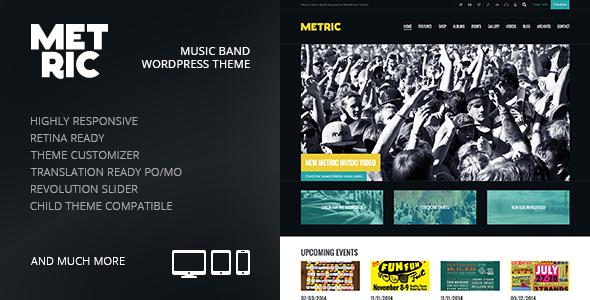 Metric - Music Band Responsive WordPress Theme