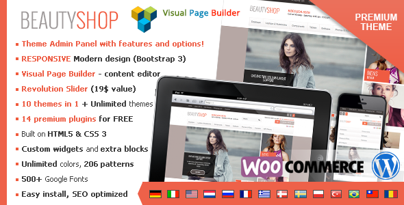 BeautyShop - Premium WordPress WooCommerce Theme