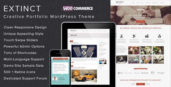 Elegant Grunge WordPress Theme
