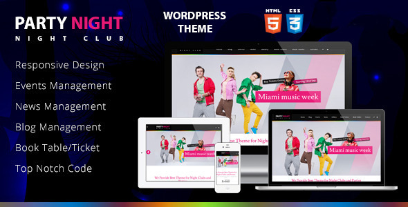 Party Night - Night Club WordPress Theme