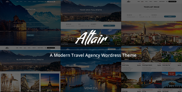 Altair Responsive Travel, Tour Agency Theme