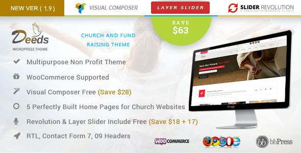 Deeds- Nonprofit Church Organization WP Theme