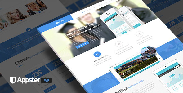 Appster - Minimal App Landing Page WordPress Theme