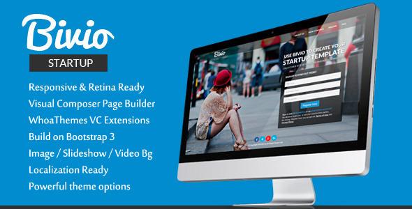 Bivio - Bootstrap 3 App Landing Page WordPress Theme