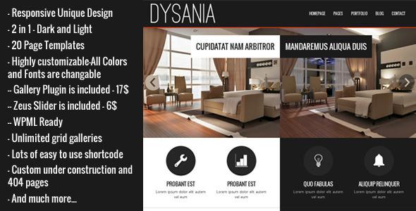 Dysania - Responsive Multi-Purpose WordPress Theme