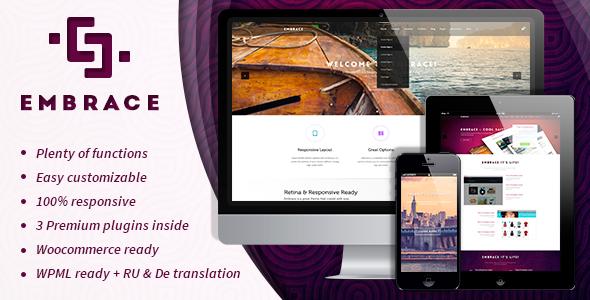 Embrace - Creative Corporate WordPress Theme