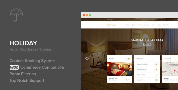 Holiday - Hotel WordPress Theme