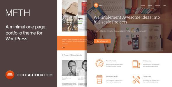 Meth - Minimal One Page Portfolio Theme