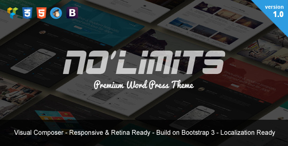 NoLimits - One Page Bootstrap Responsive WordPress Theme