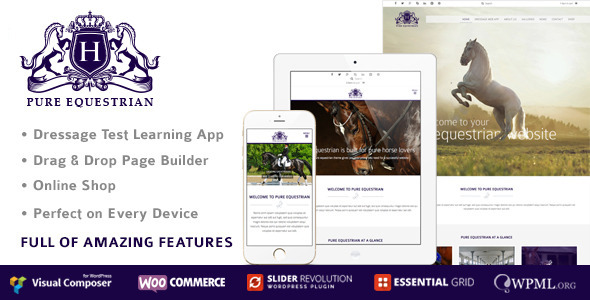 Pure Equestrian - Responsive WordPress Theme