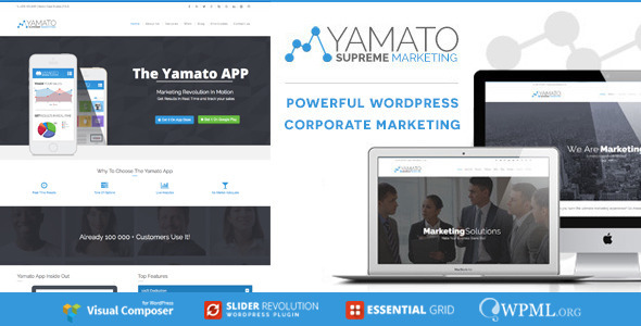 YAMATO - Corporate Marketing WordPress Theme
