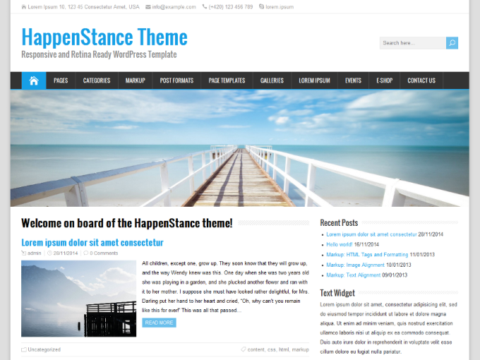 Free WordPress Themes January 2015