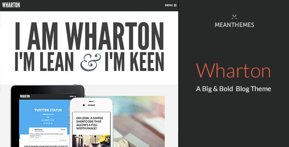 Wharton - A Big & Bold WordPress Blog Theme