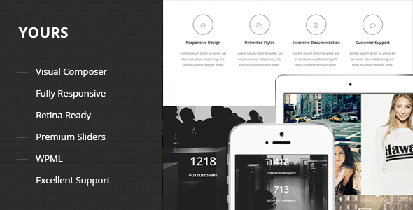 Yours - Responsive One Page WordPress Theme