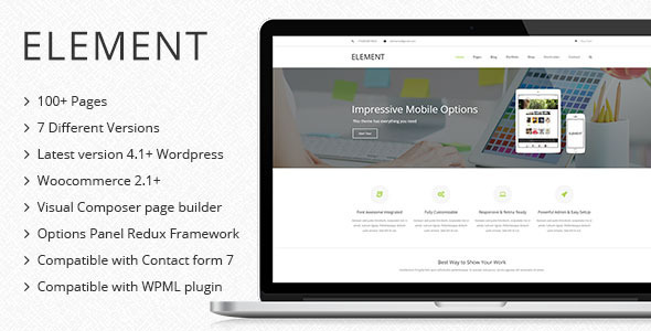 Element - Multipurpose WordPress Theme