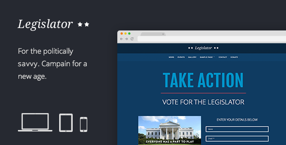 Legislator - Political WordPress Campaign Theme