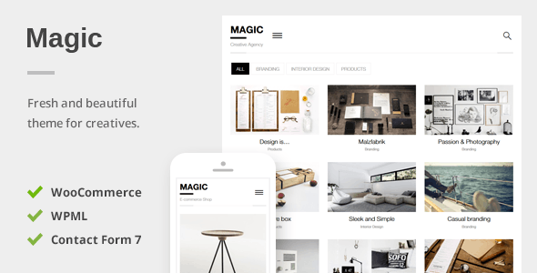 Magic - Creative Portfolio & Ecommerce WordPress Theme