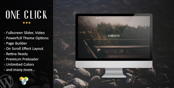 One Click - Parallax One Page WordPress Theme
