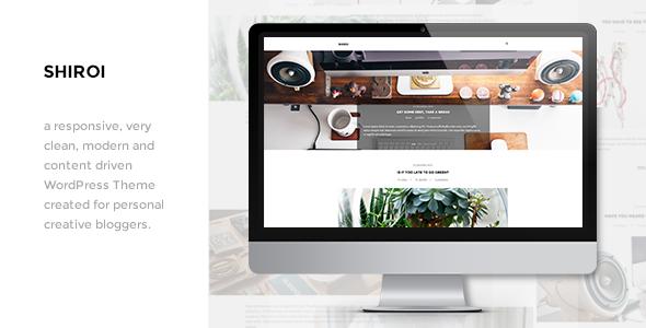 Shiroi - Clean Personal WordPress Blogging Theme