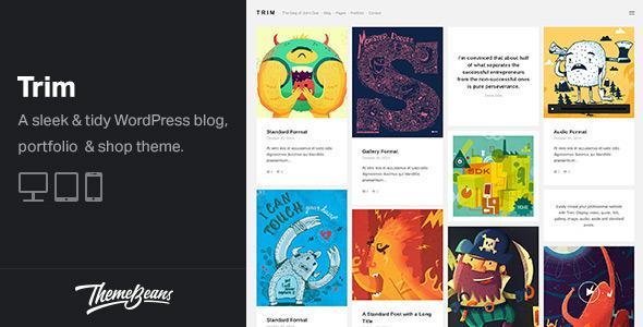 Trim - Masonry WordPress Blog, Shop & Portfolio Theme