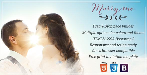 Marry Me - Elegant WordPress Wedding & Celebration Theme