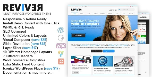 Reviver - Multi-Purpose Responsive WordPress Theme