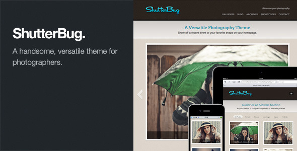 ShutterBug - Responsive Photography WordPress Theme