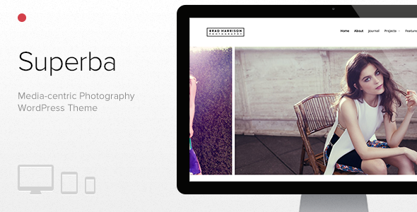 Superba - Media-centric Photography WordPress Theme
