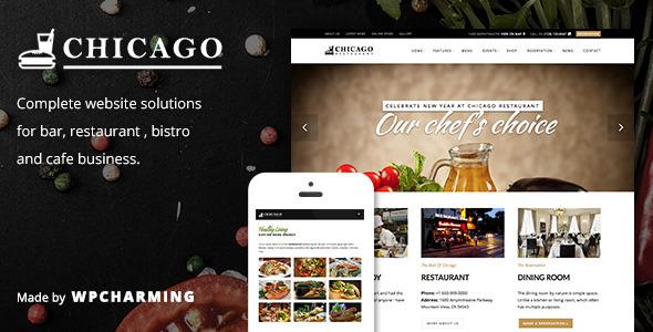 Chicago - Restaurant, Cafe, Bar and Bistro Theme